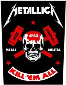 Metallica Metal Militia large fabric poster / flag 1100mm x 750mm (hr)